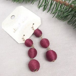 NWT ALTAR'D STATE Fabric Ball Drop Earrings